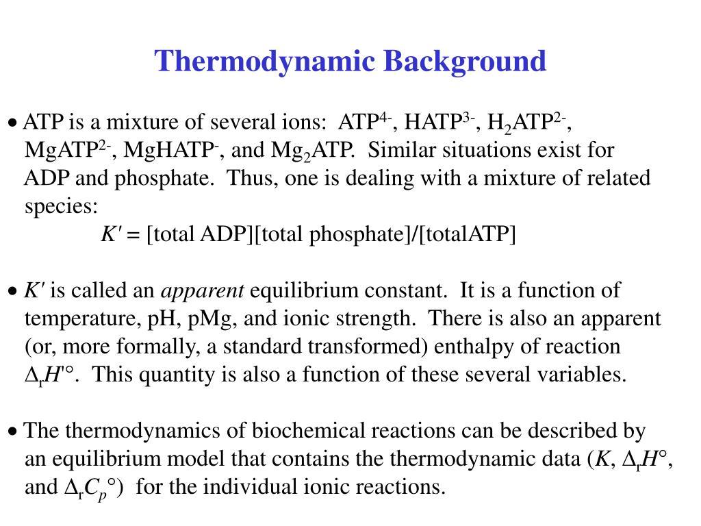 Thermodynamic Background