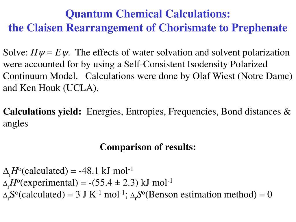 Quantum Chemical Calculations: