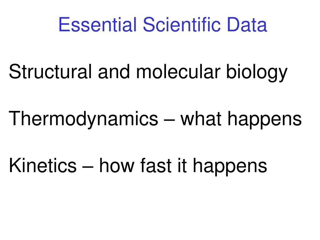 Essential Scientific Data