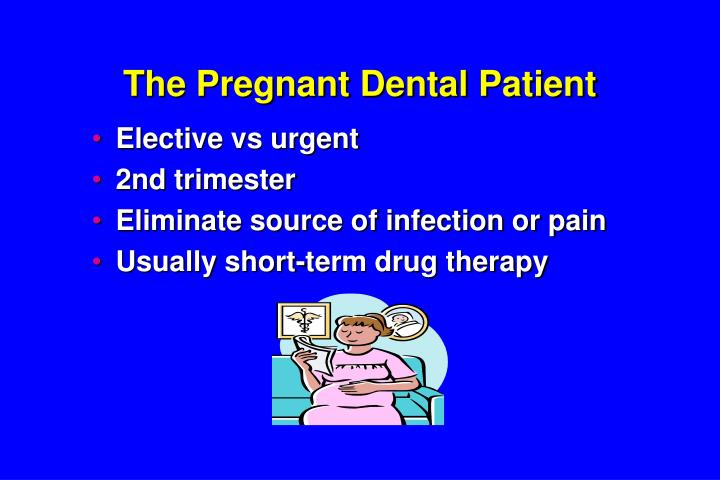 The Pregnant Dental Patient