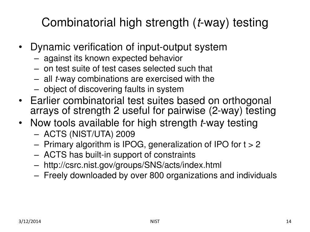 Combinatorial high strength (