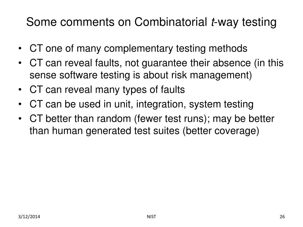 Some comments on Combinatorial