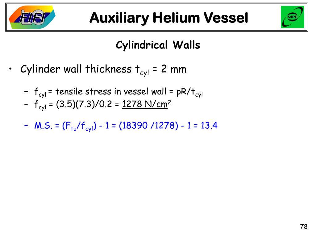 Auxiliary Helium Vessel