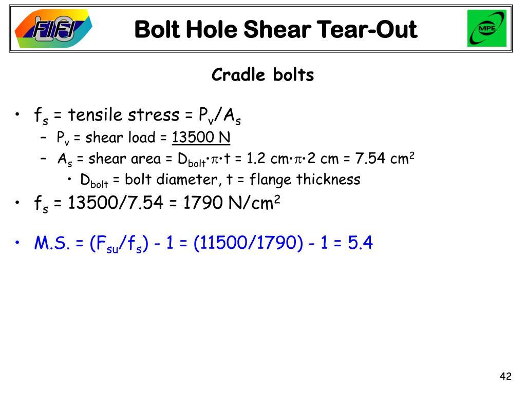 Bolt Hole Shear Tear-Out