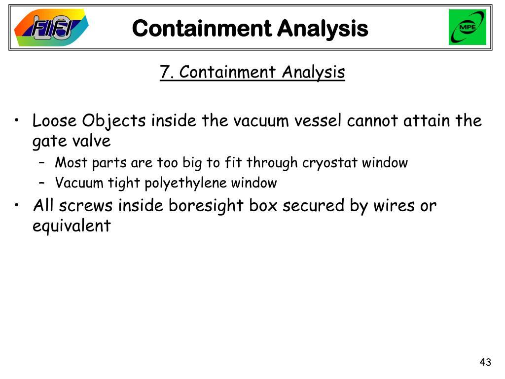 Containment Analysis
