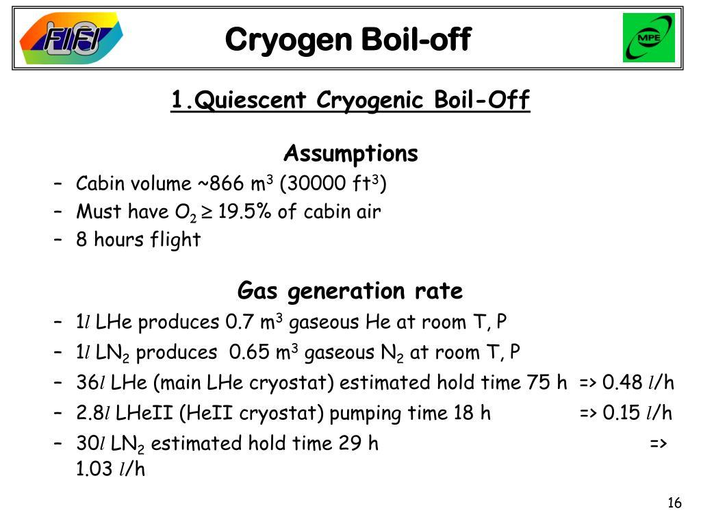 Cryogen Boil-off