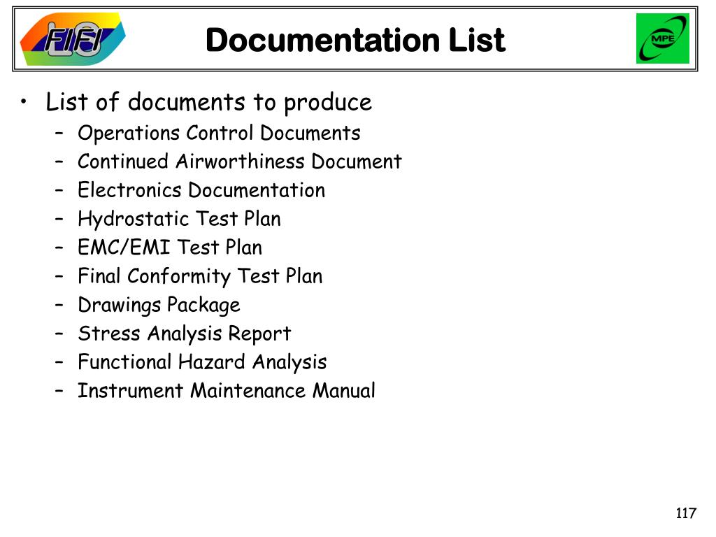 Documentation List