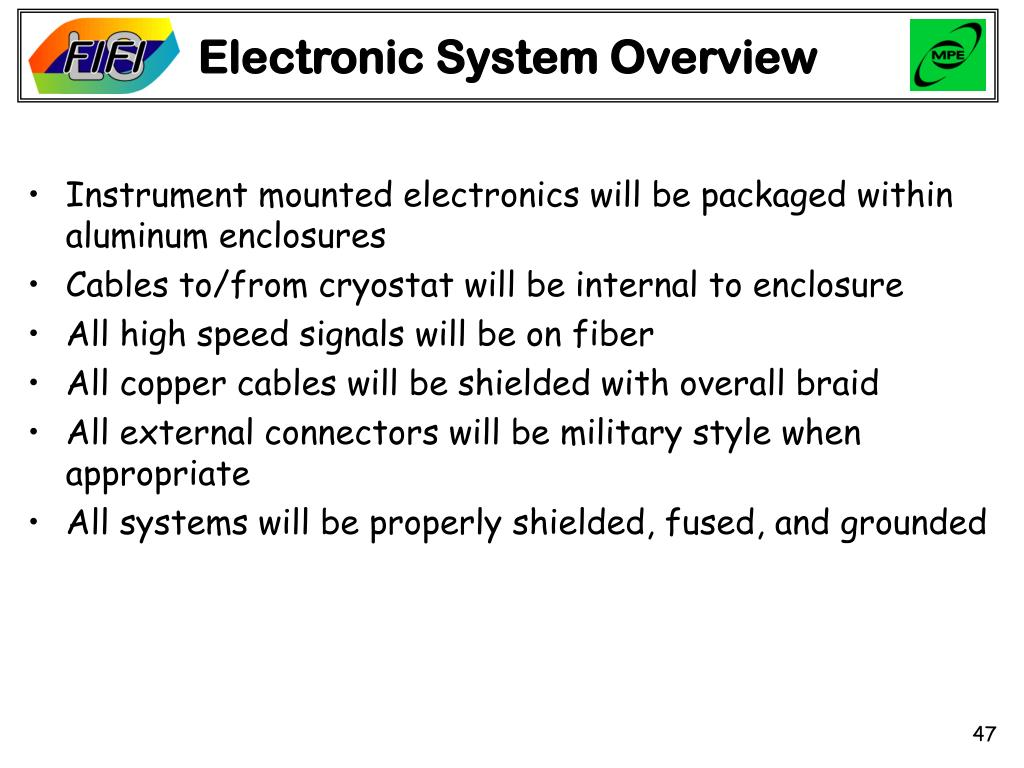 Electronic System Overview