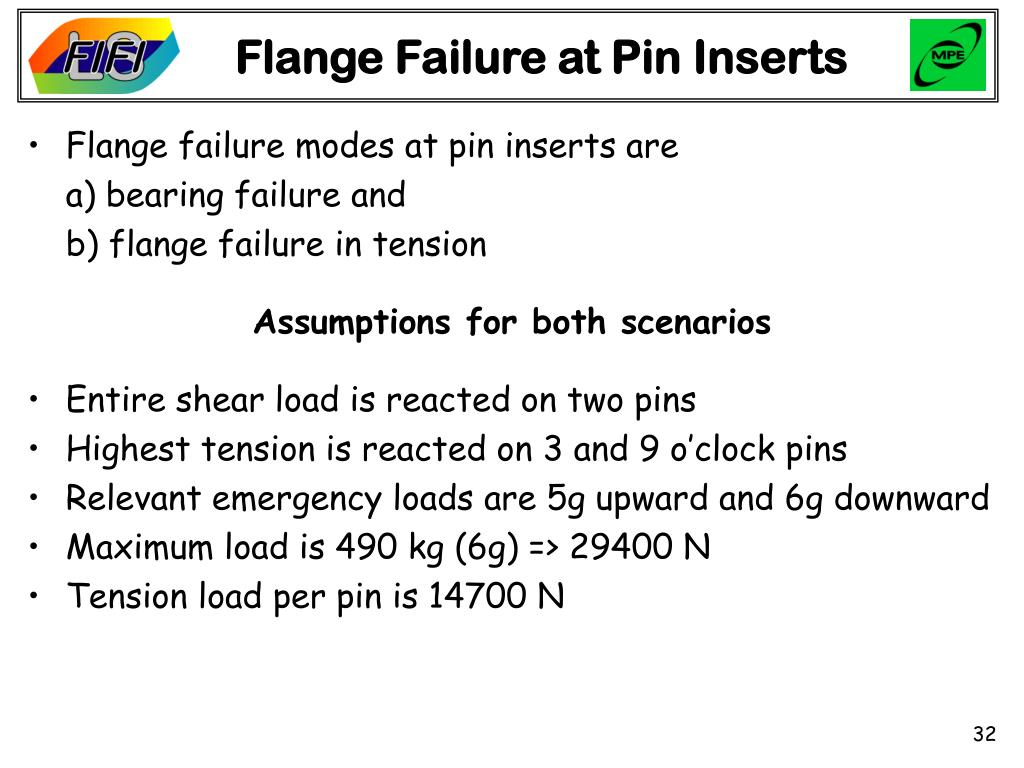 Flange Failure at Pin Inserts