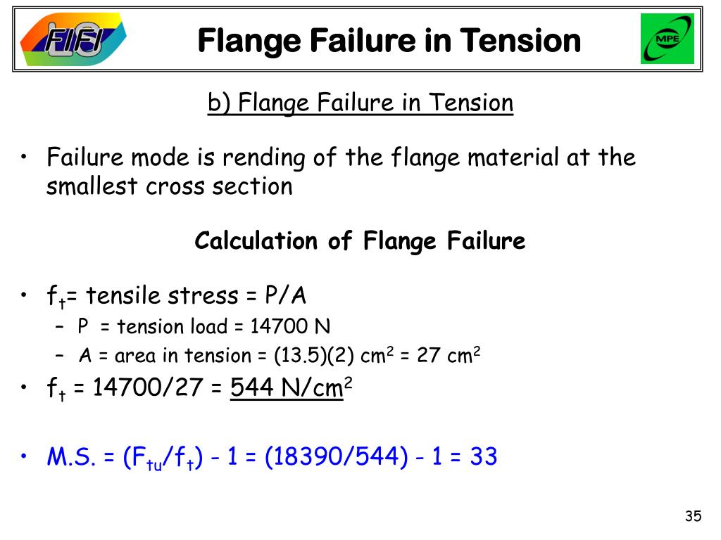 Flange Failure in Tension