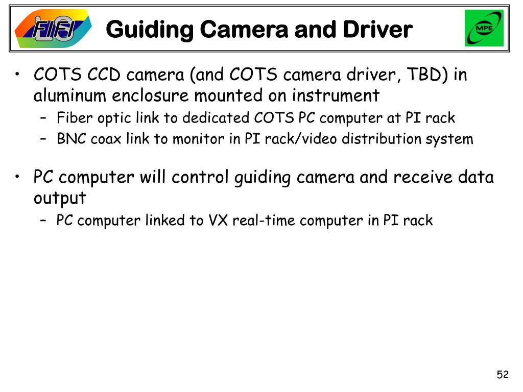 Guiding Camera and Driver