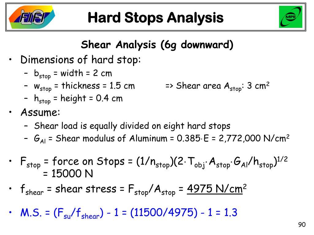 Hard Stops Analysis