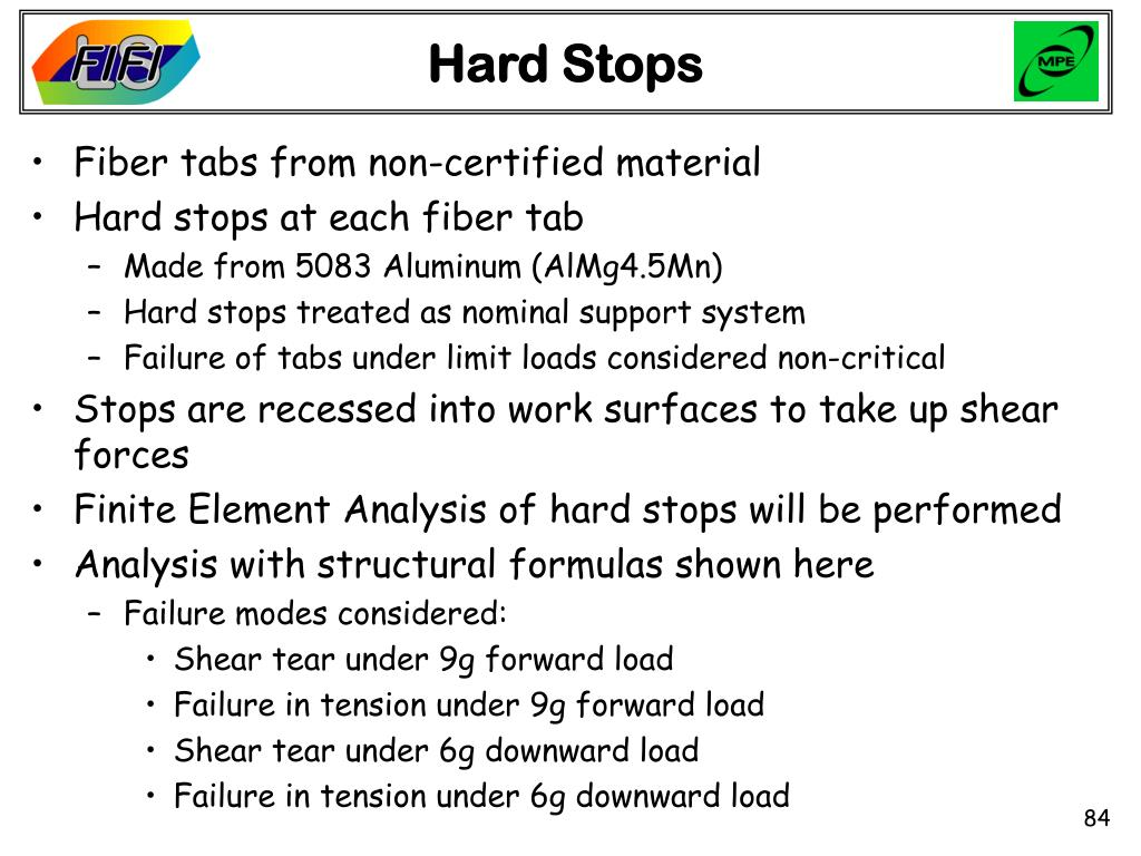 Hard Stops