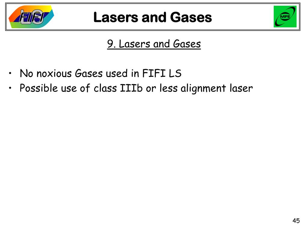 Lasers and Gases