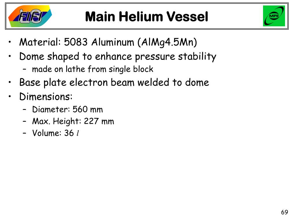 Main Helium Vessel