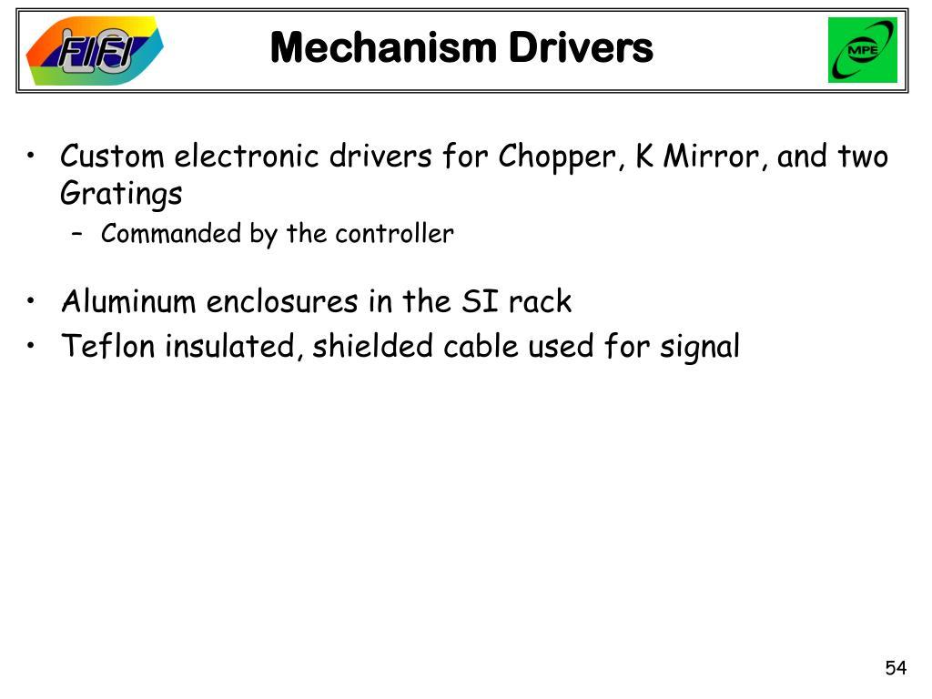 Mechanism Drivers
