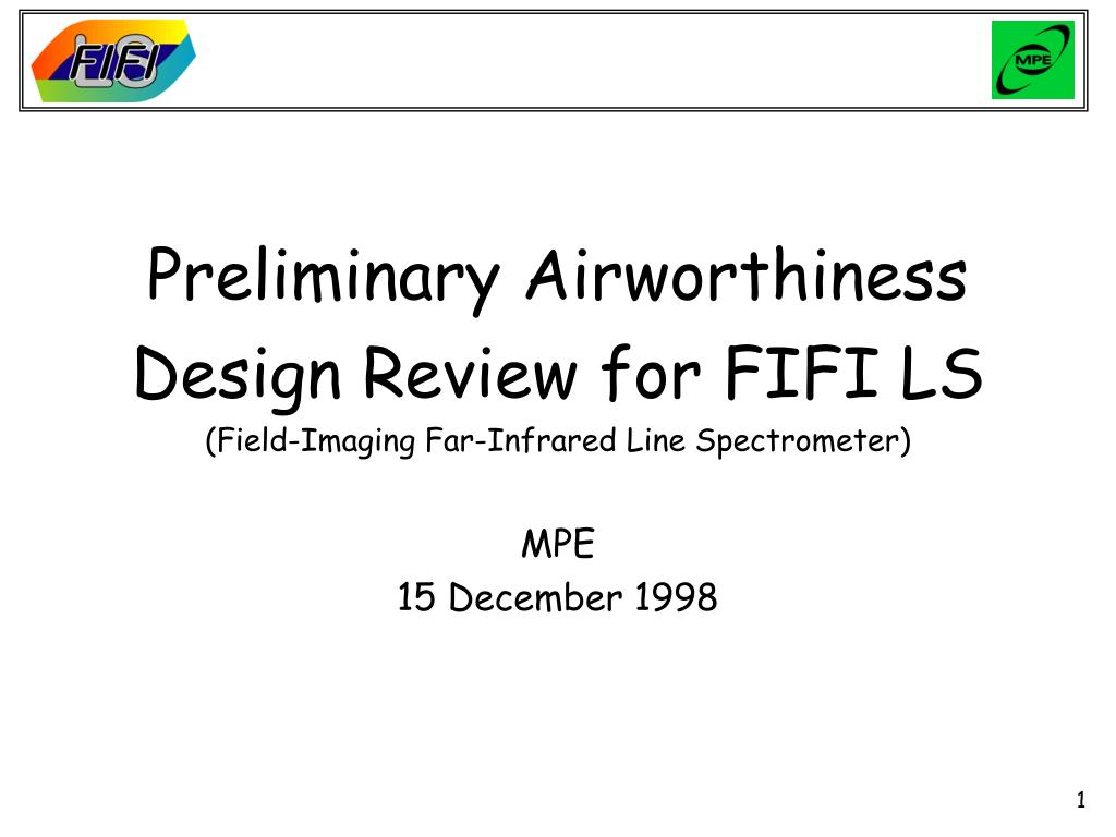 Preliminary Airworthiness