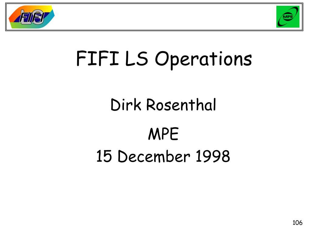 FIFI LS Operations