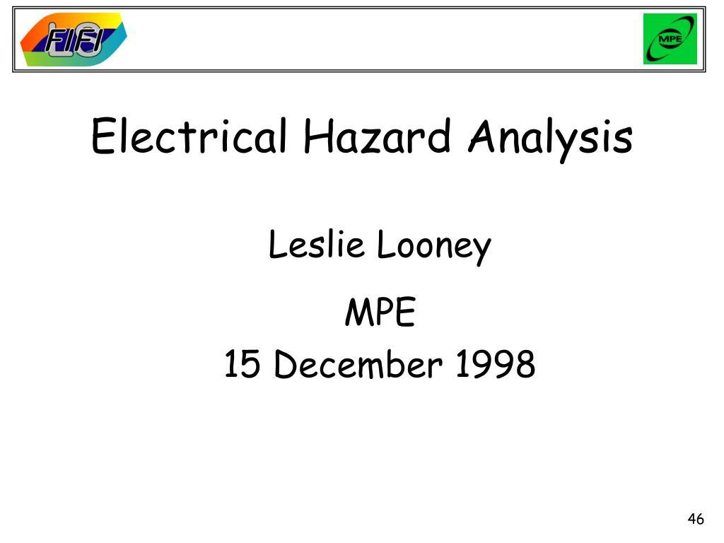 Electrical Hazard Analysis