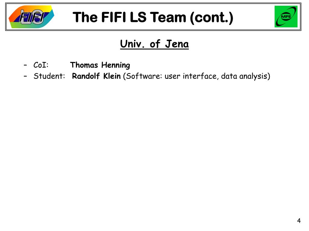 The FIFI LS Team (cont.)