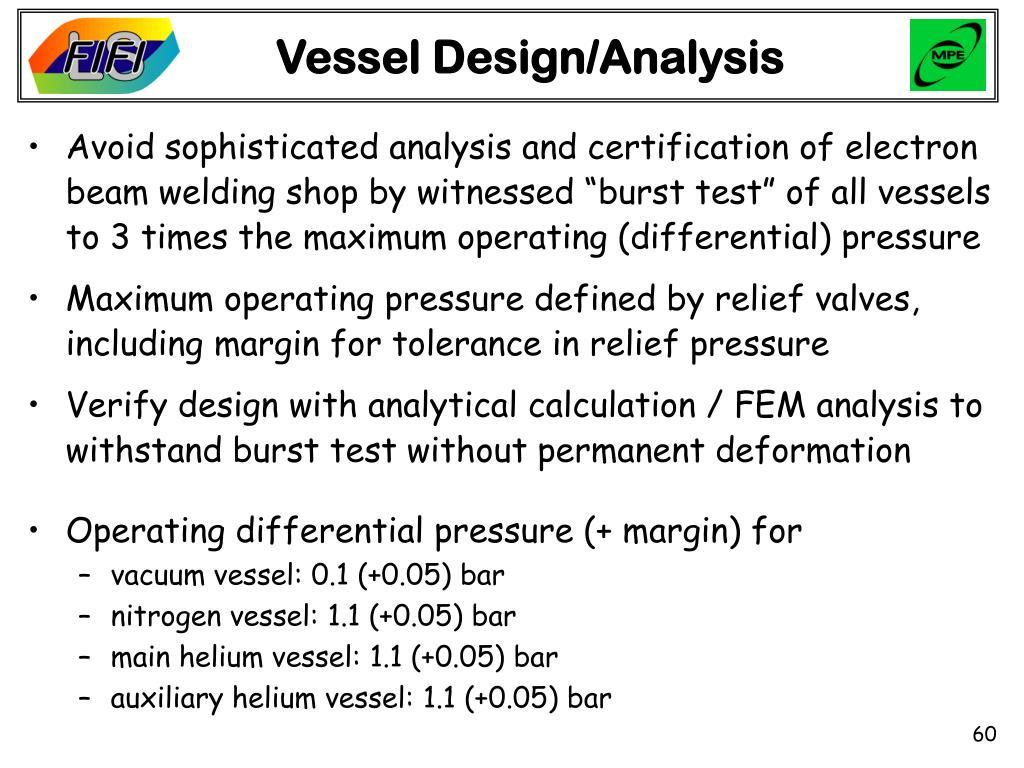 Vessel Design/Analysis