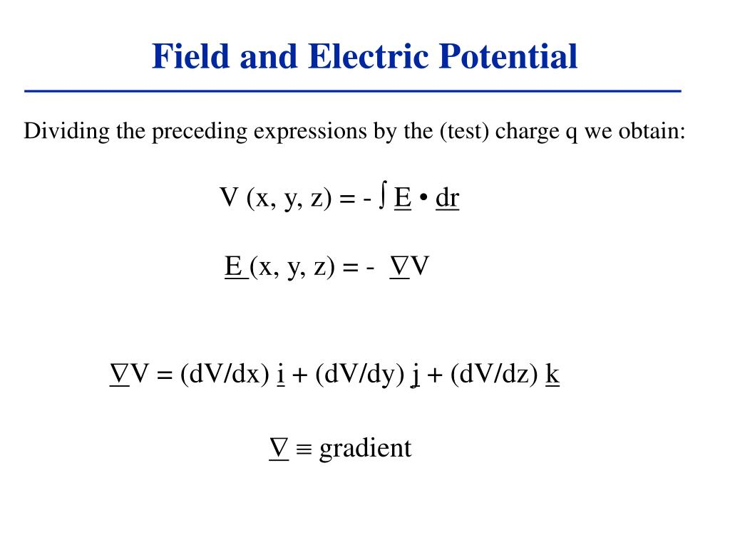 Field and Electric Potential