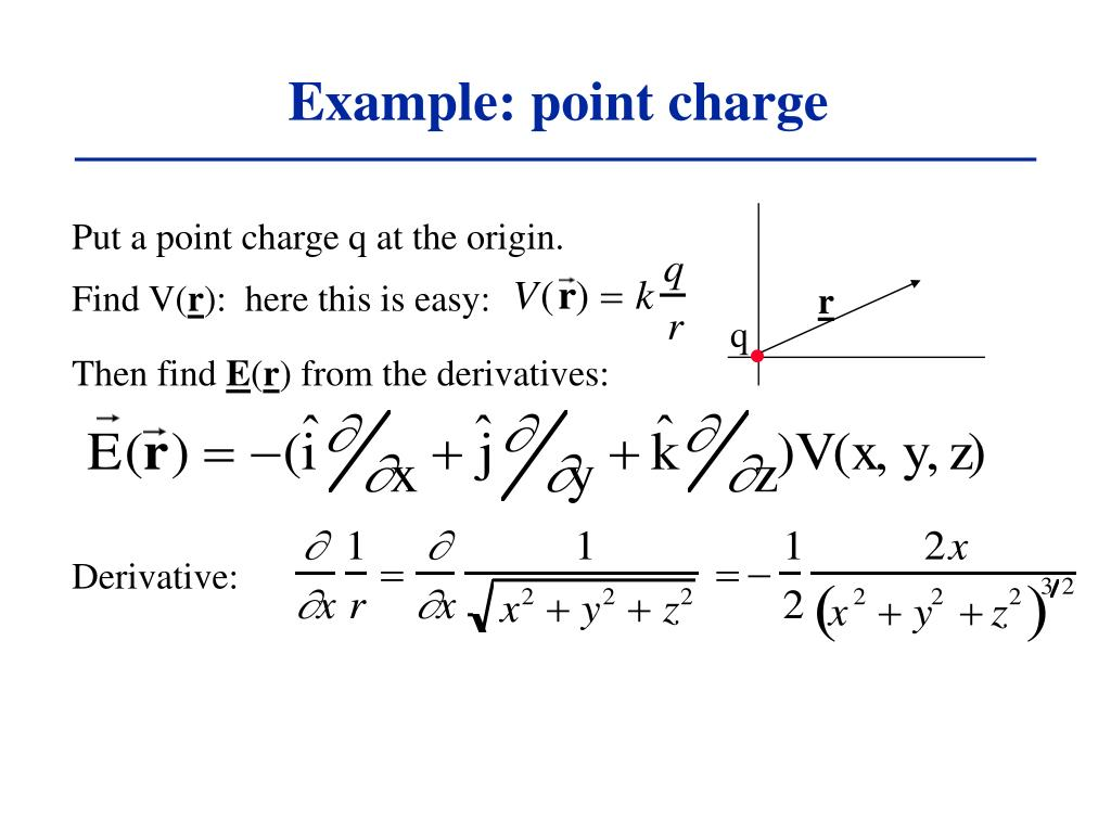 Example: point charge