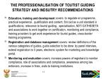 the professionalisation of toutist guiding strategy and indsutry recommendations15