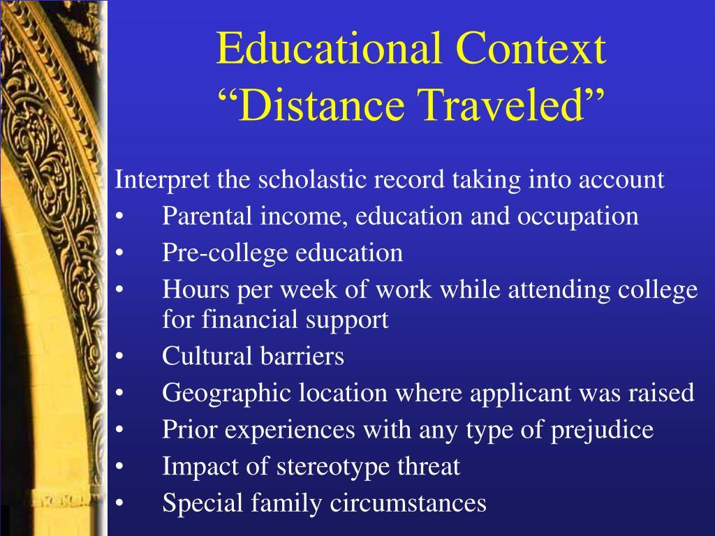 Educational Context