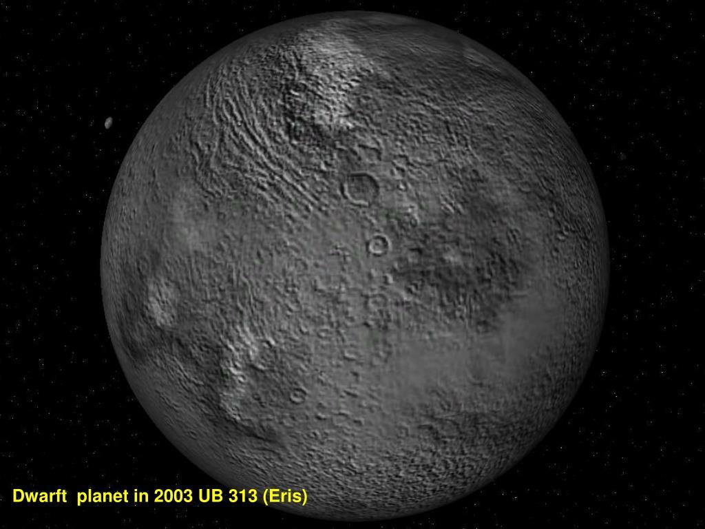 Dwarft  planet in 2003 UB 313 (Eris)