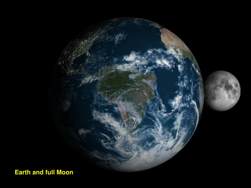 Earth and full Moon