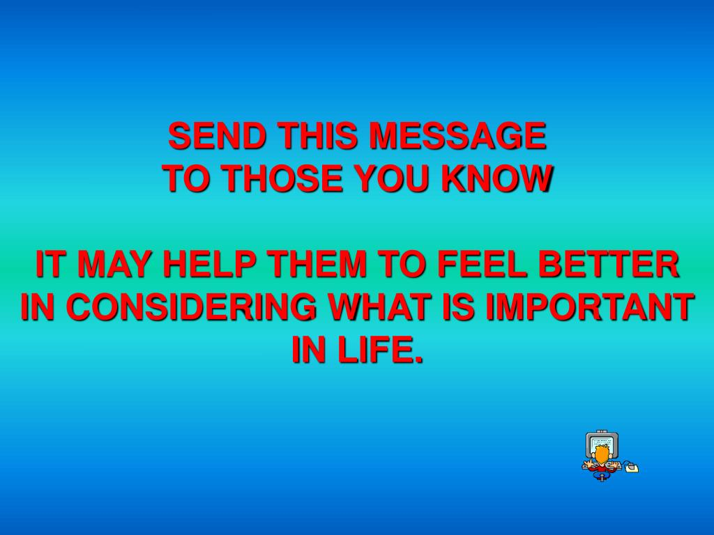 SEND THIS MESSAGE