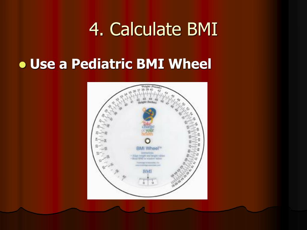 4. Calculate BMI