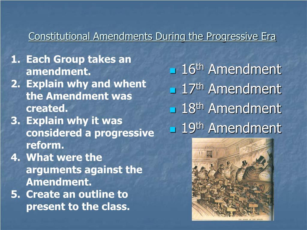 Constitutional Amendments During the Progressive Era