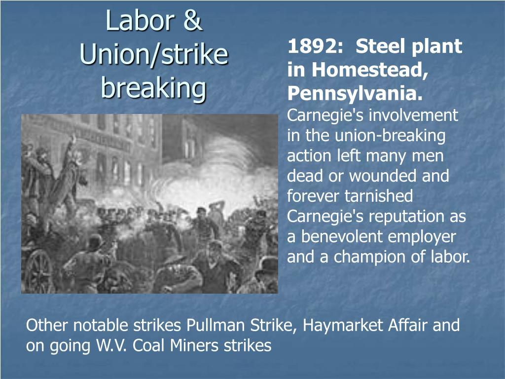 Labor & Union/strike breaking
