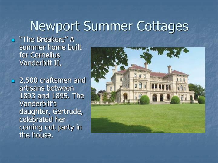 Newport summer cottages