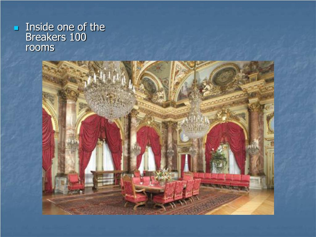 Inside one of the Breakers 100 rooms