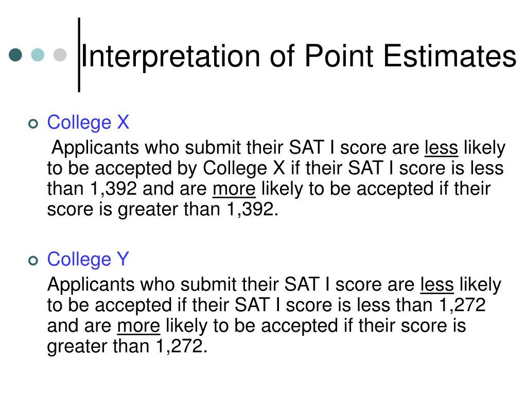 Interpretation of Point Estimates