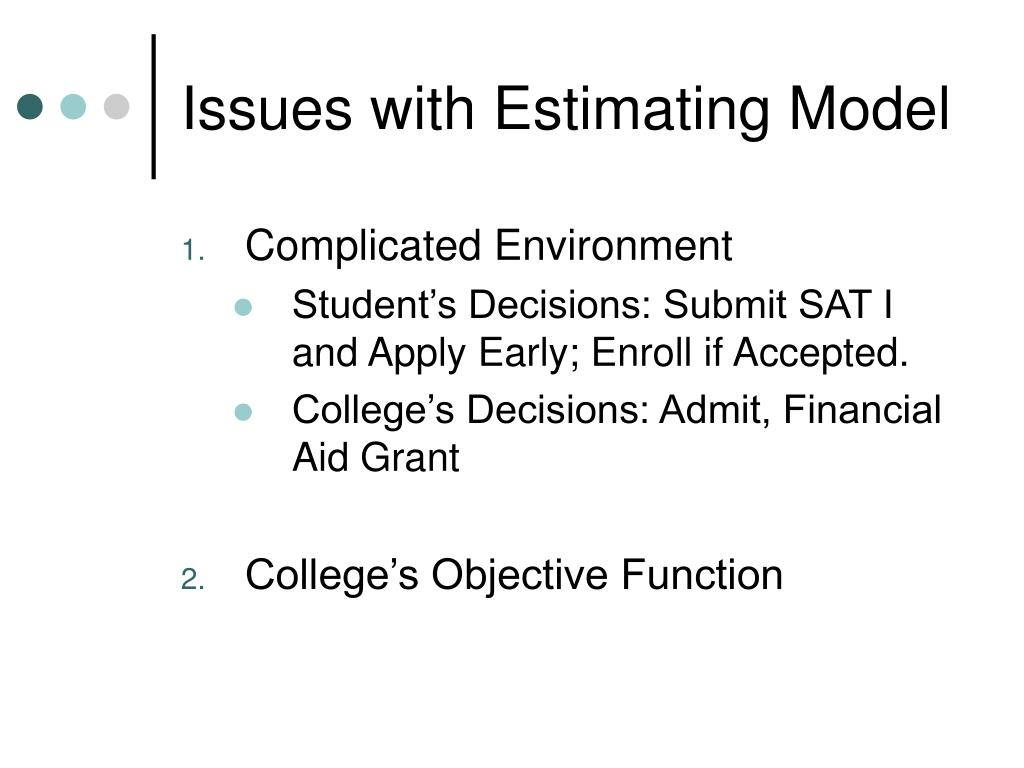 Issues with Estimating Model