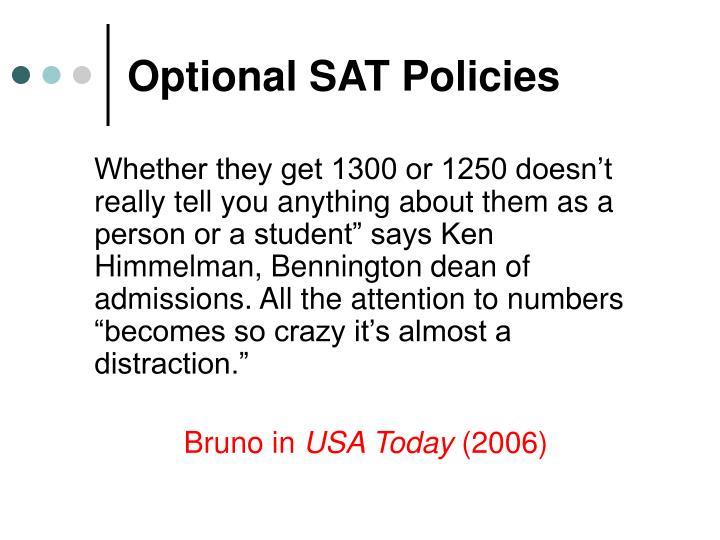 Optional sat policies3