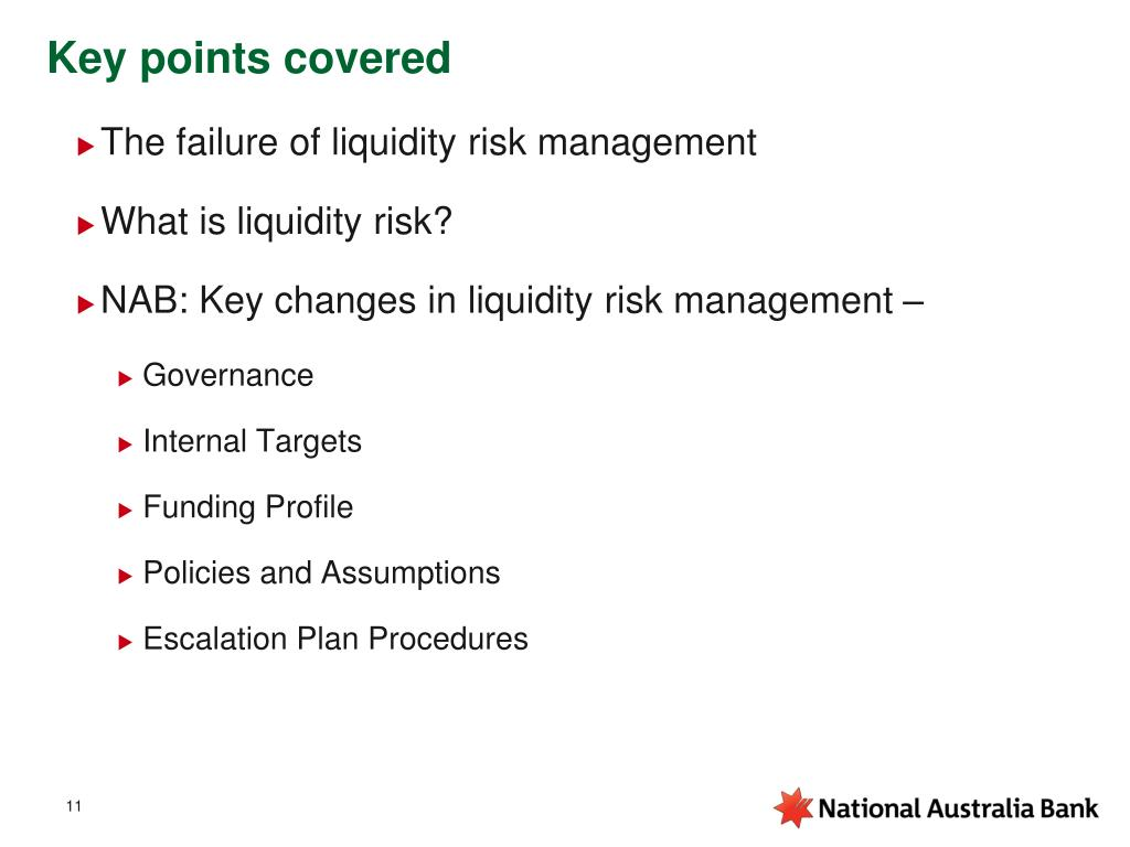 Key points covered