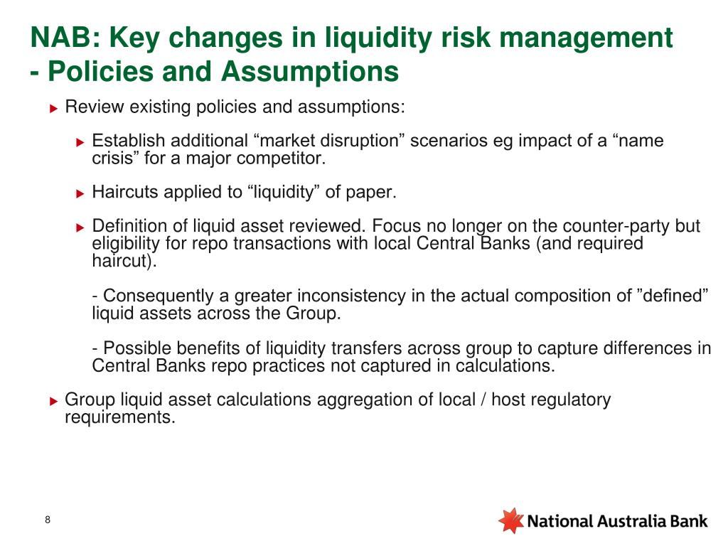 NAB: Key changes in liquidity risk management