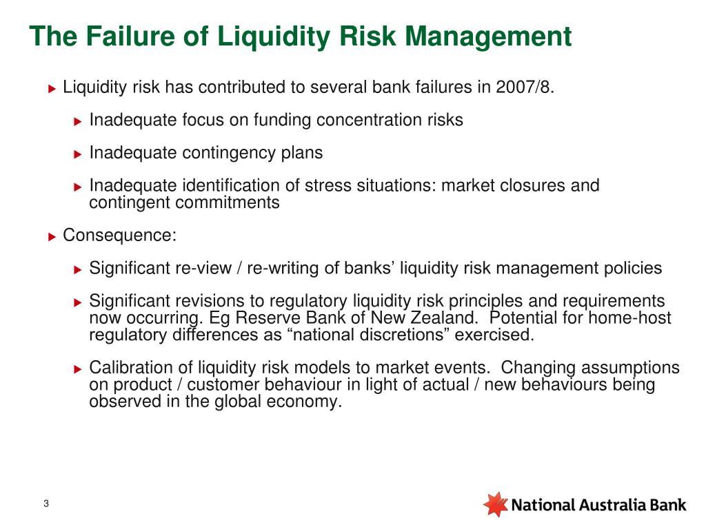 The Failure of Liquidity Risk Management