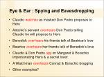 eye ear spying and eavesdropping