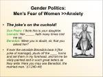 gender politics men s fear of women anxiety