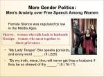 more gender politics men s anxiety over free speech among women