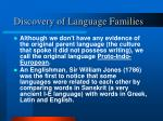 discovery of language families