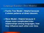 language families two models