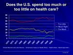 does the u s spend too much or too little on health care