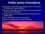 public sector innovations